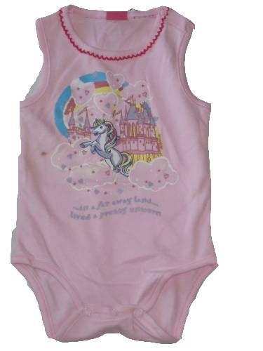 Unikornis mintás baba ujjatlan bady - baba felső, póló