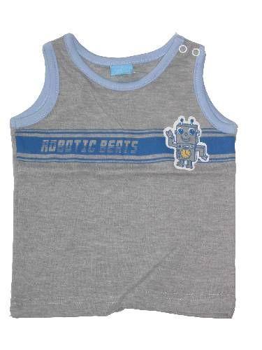 Robot mintás baba trikó - baba felső, póló