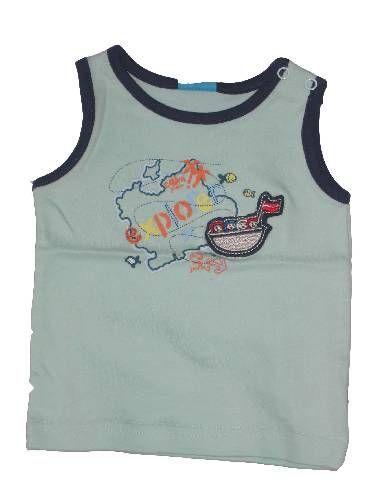 Csónak mintás baba trikó - baba felső, póló