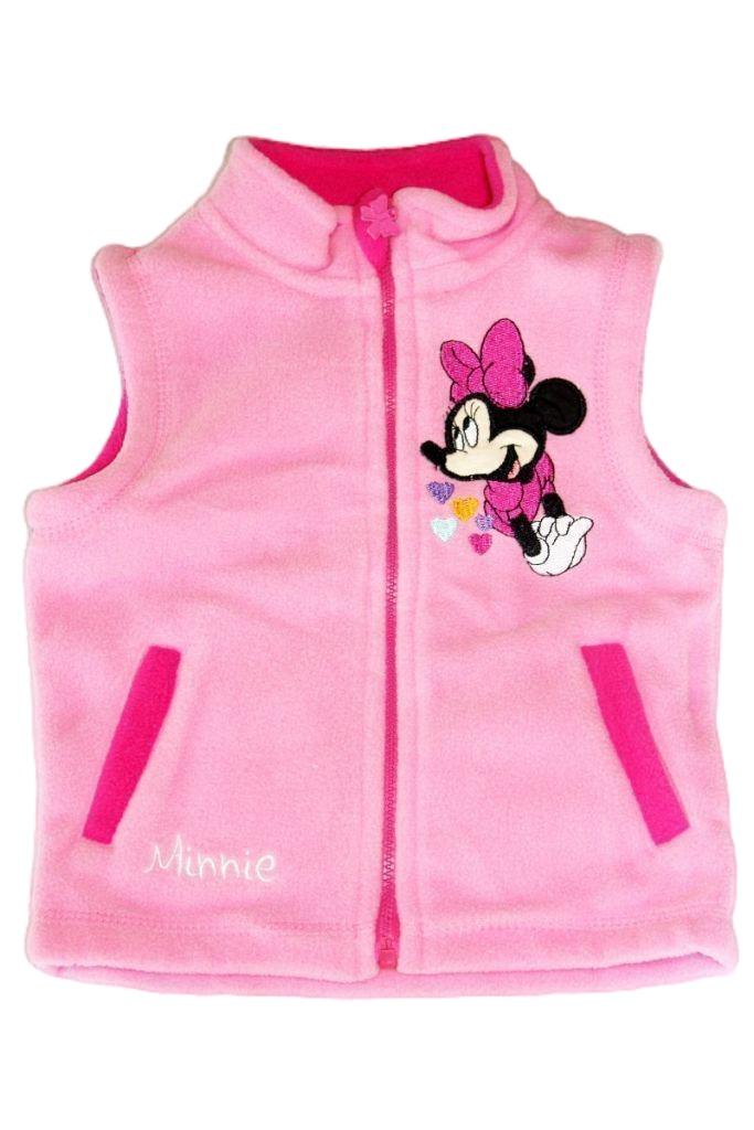 Minnie egér mintás baba polár mellény - baba pulóver, mellény