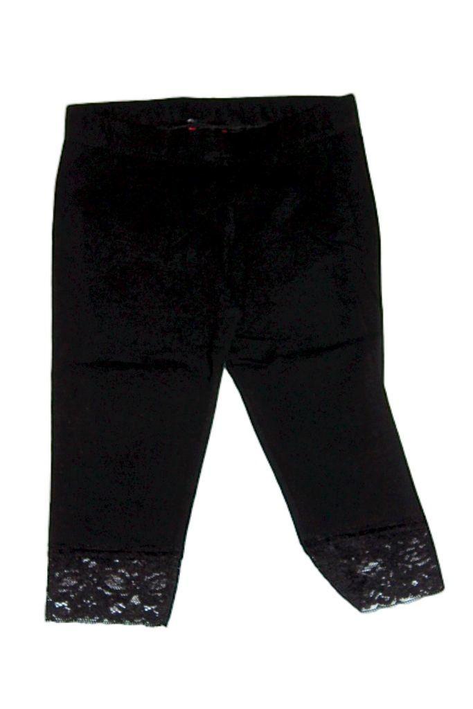 Lány egy színű térd leggings - lány rövidnadrág