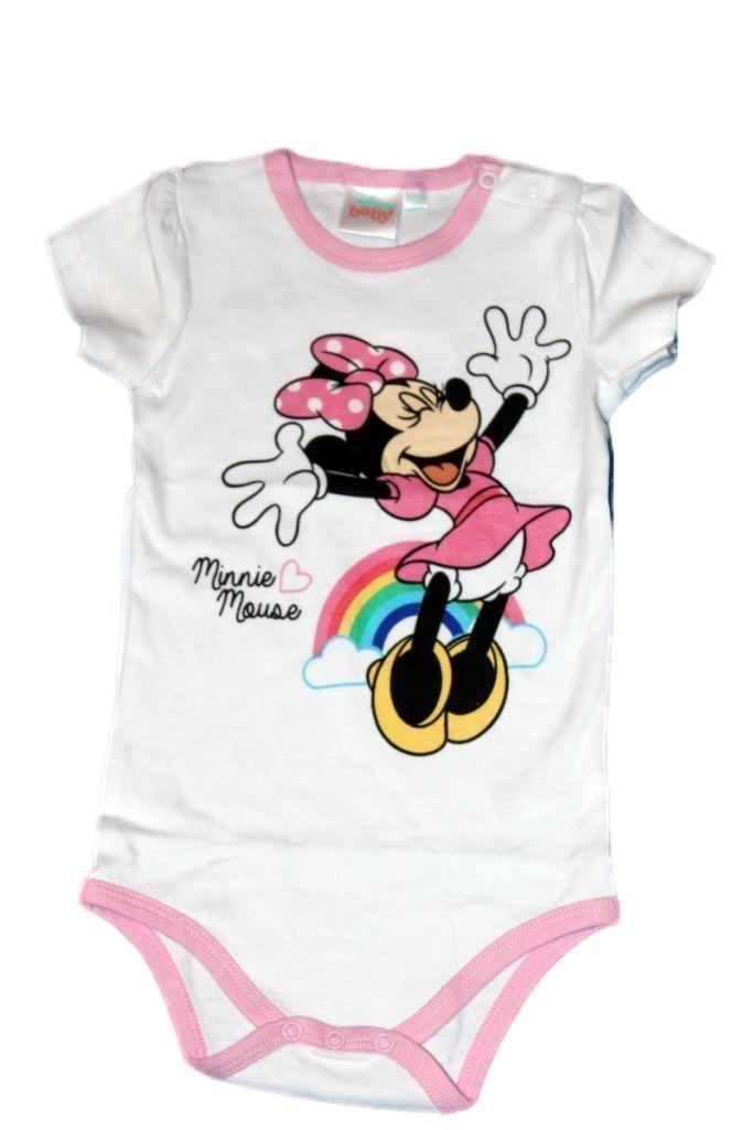 Minnie egér mintás baba rövd ujjú kombidressz - baba felső, póló