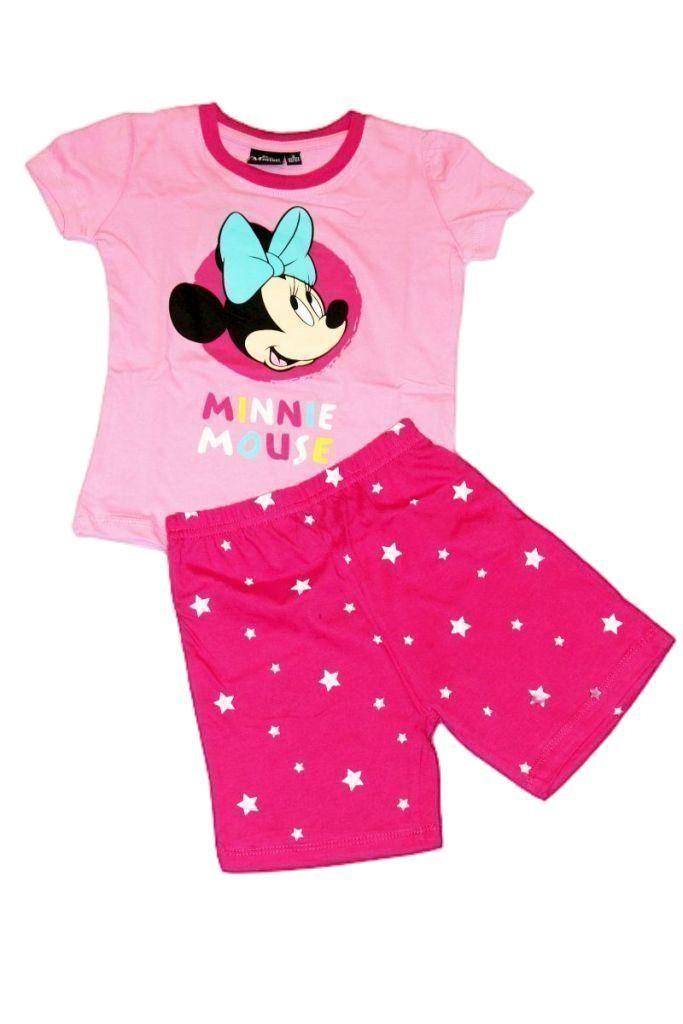 Minnie egér mintás lány rövid pizsama - lány pizsama, lány felső, póló