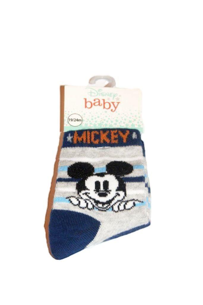 Mickey egér mintás baba zokni - babacipő, baba együttes, szett