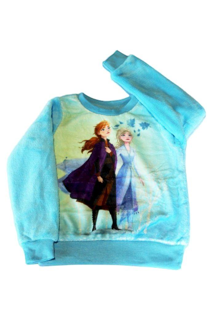 Frozen mintás lány vékony polár pulóver - lány pulóver, mellény