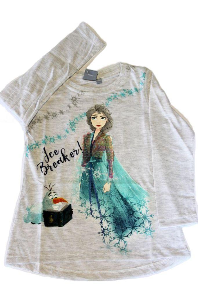 Frozen mintás lány hosszú ujjú póló - lány felső, póló