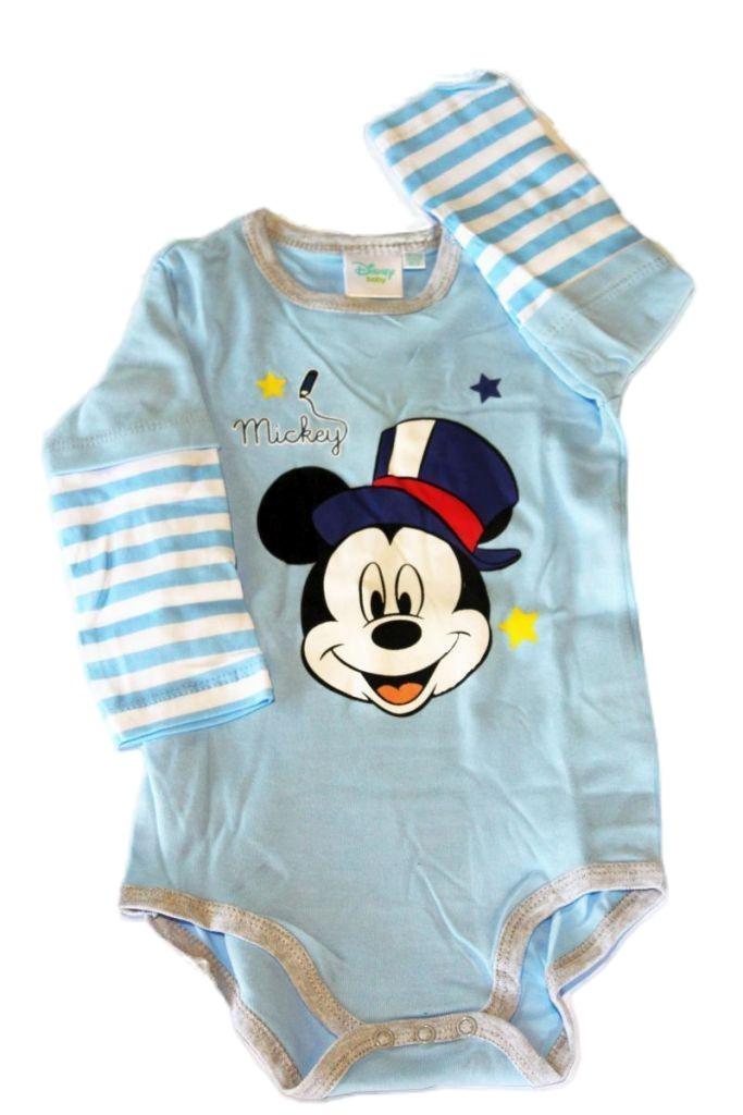 Mickey egér mintás baba hosszúujjú bady - baba felső, póló