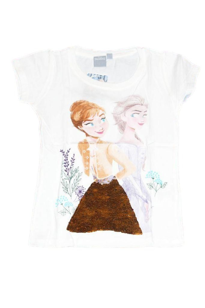 Jégvarázs mintás lány flitteres póló - lány felső, póló