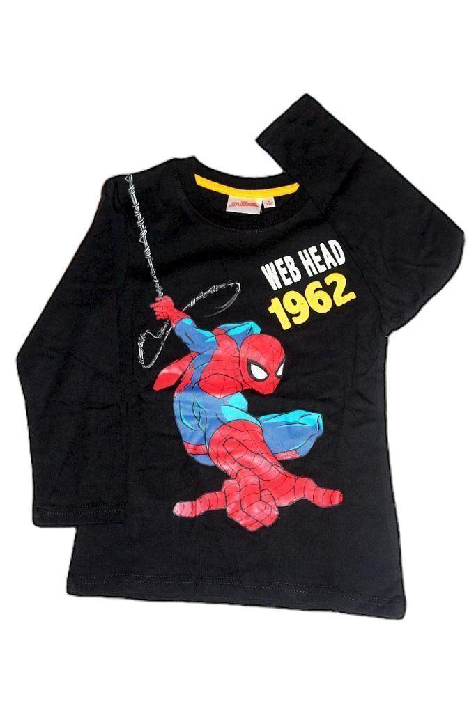 Pókember mintás fiú hosszú ujjú póló - fiú felső, póló