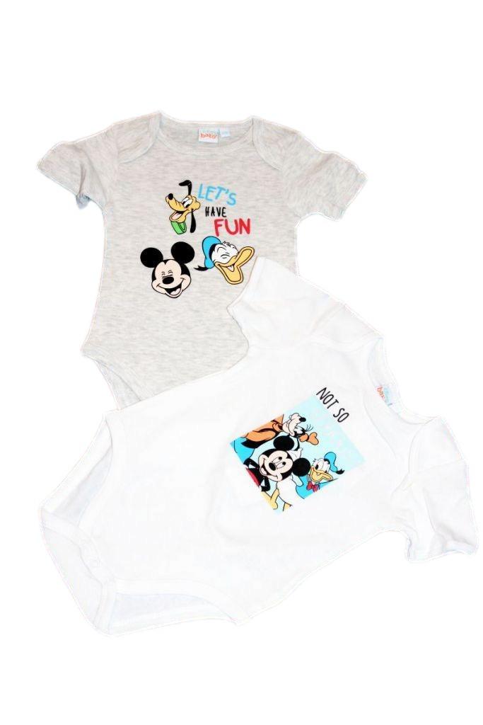 Mickey egér mintás baba bady 2db - baba felső, póló