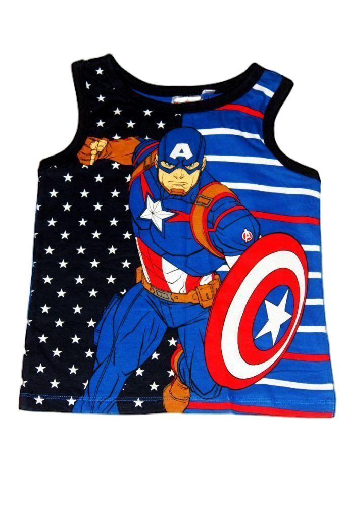 Amerika kapitány mintás fiú trikó - fiú felső, póló