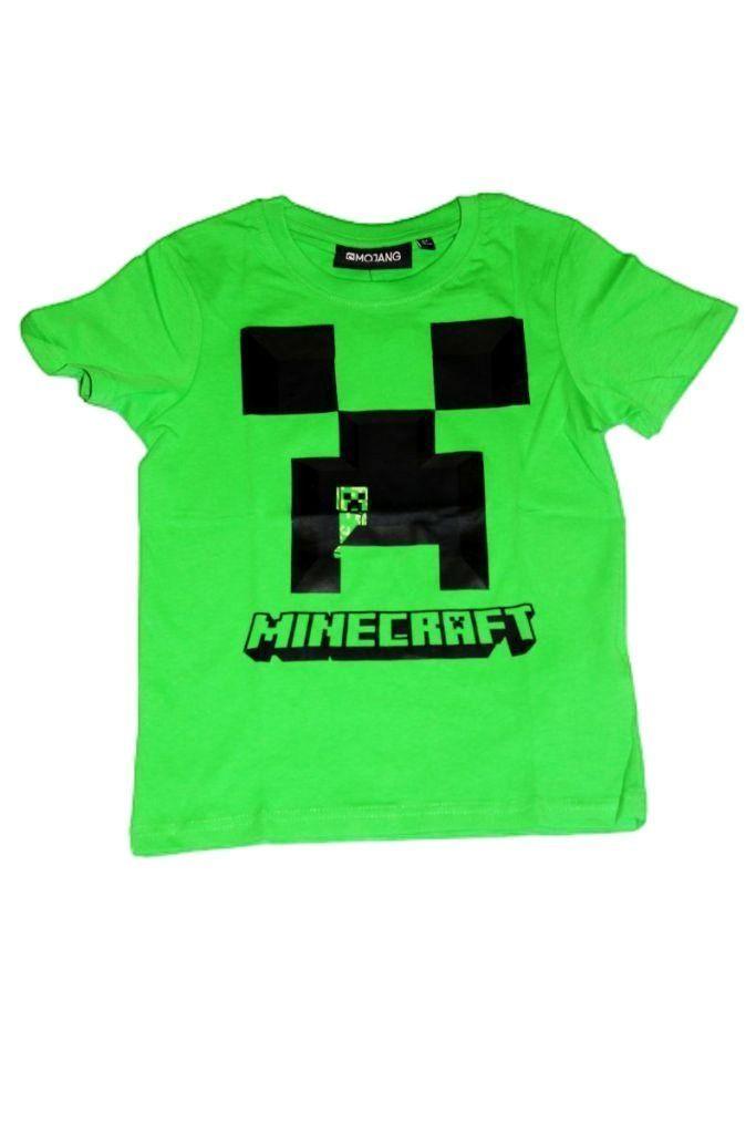 Minecraft mintás rövid ujjú póló  - fiú felső, póló