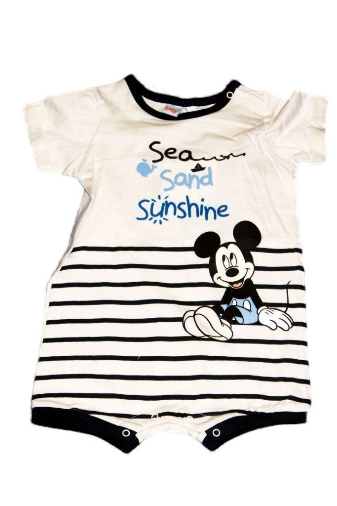 Mickey egér mintás baba napozó - baba rugdalózó, baba együttes, szett