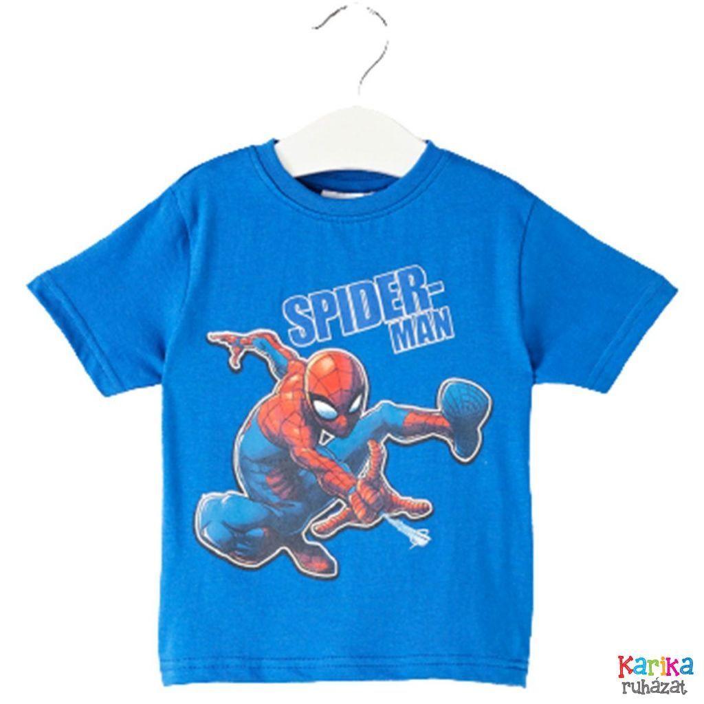 Pókemeber mintás rövid ujjú póló - fiú felső, póló
