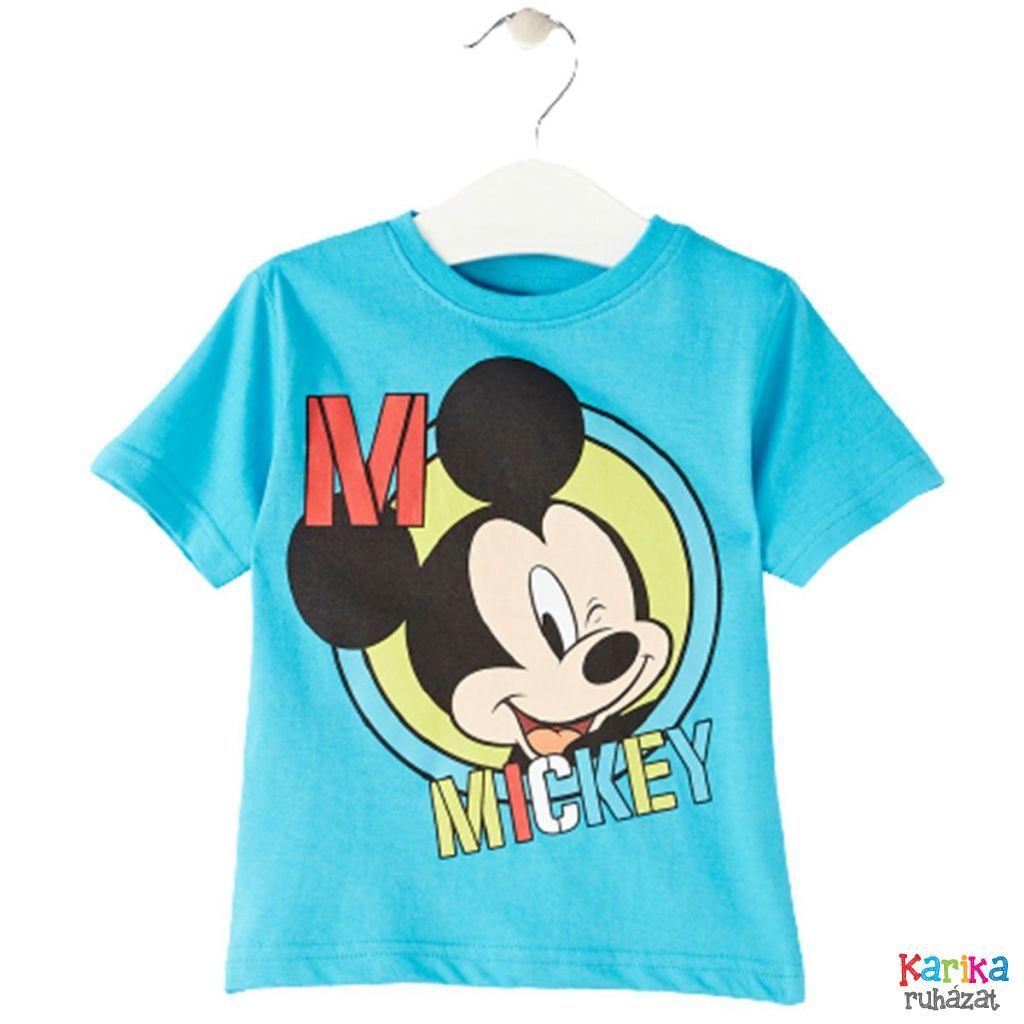 Mickey egeres fiú rövid ujjú póló - fiú felső, póló