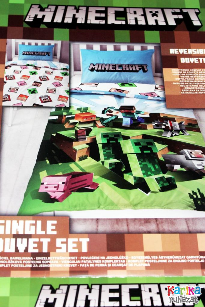 Minecraft mintás felnőtt méretű ágynemű - Ágynemű, lepedő, takaró