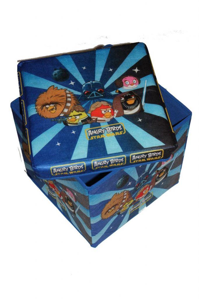 Angry Birds mintás tárolódoboz - táska