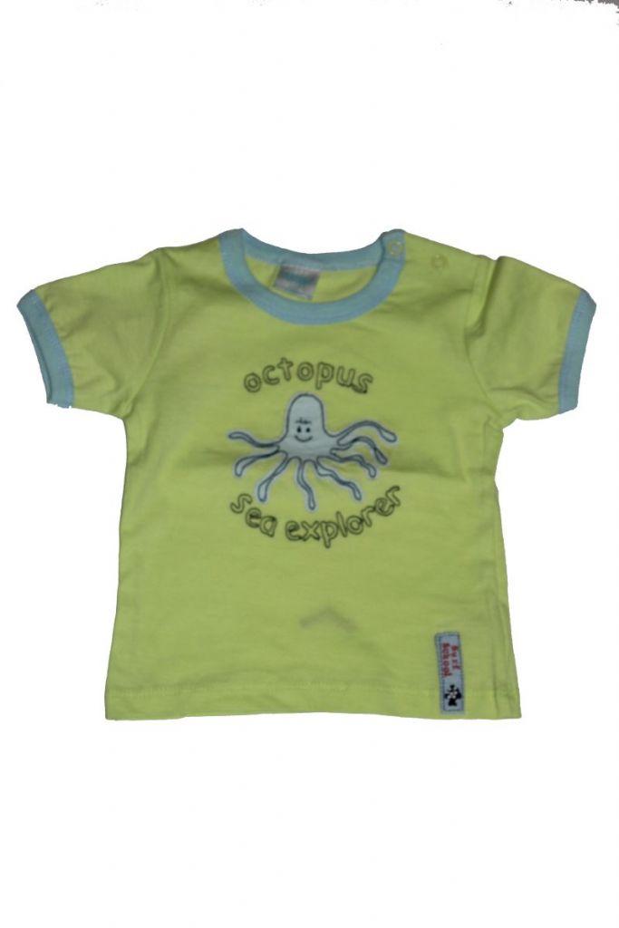 Polip mintás baba póló - baba felső, póló