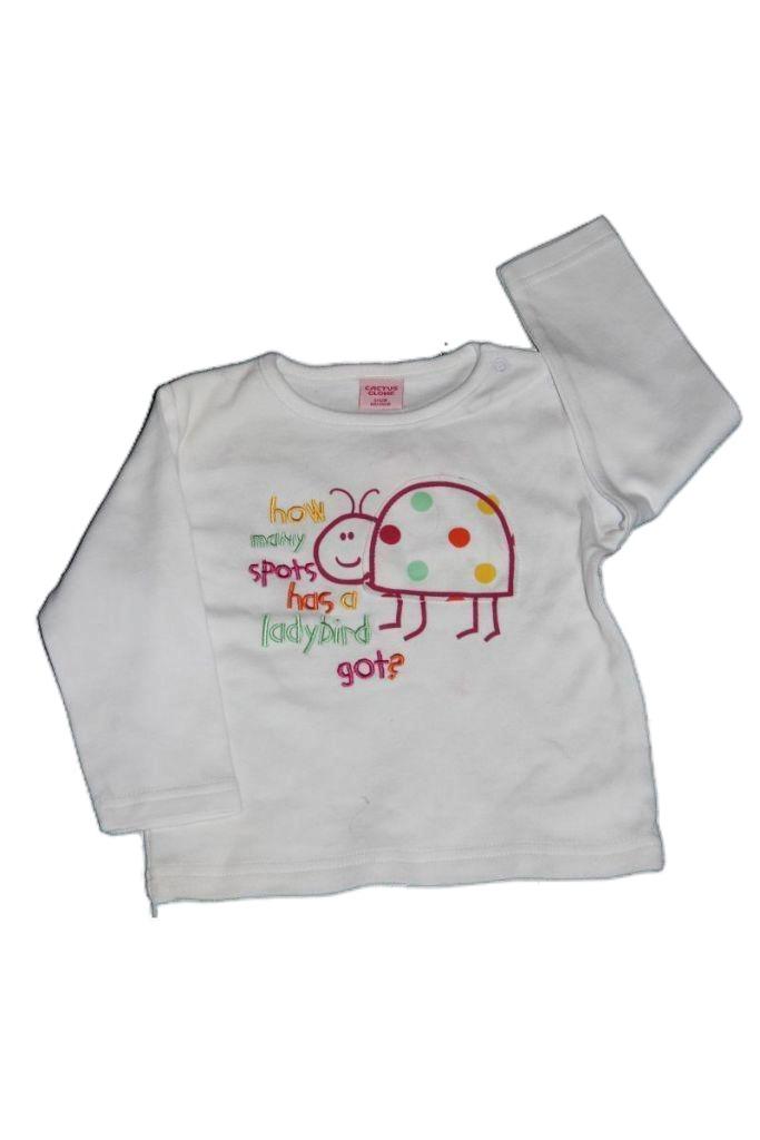 Katica mintás hosszú ujjú baba póló  - baba felső, póló