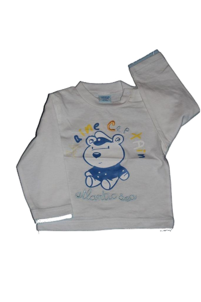 Medve mintás baba hosszú ujjú póló - baba felső, póló