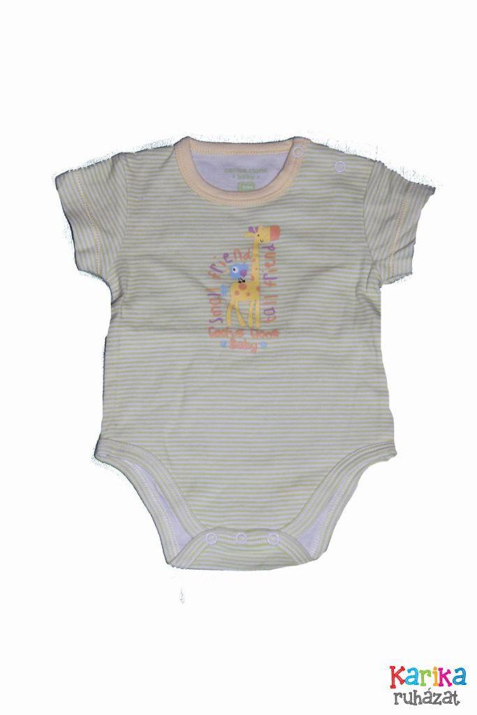 Zsiráf mintás baba bady - baba felső, póló