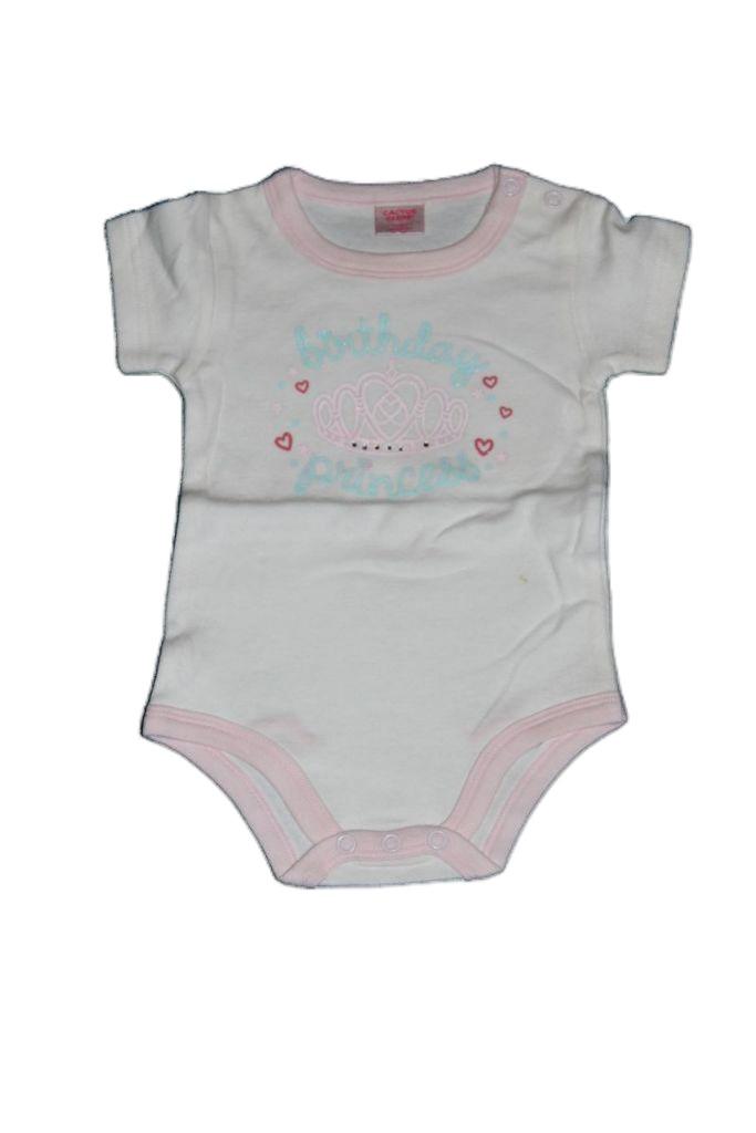 Korona mintás baba rövid ujjú bady - baba felső, póló