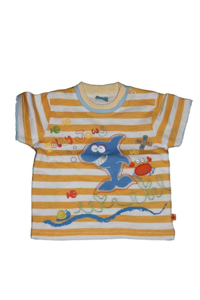 Cápa mintás baba póló - baba felső, póló