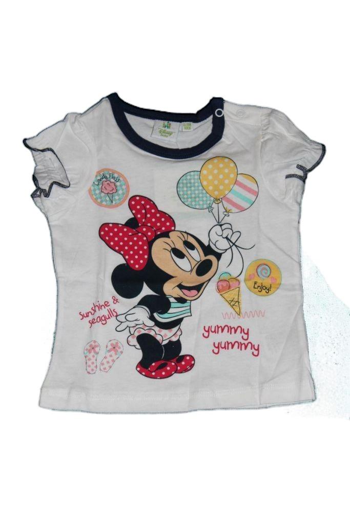 Minnie egér mintás baba póló - baba felső, póló