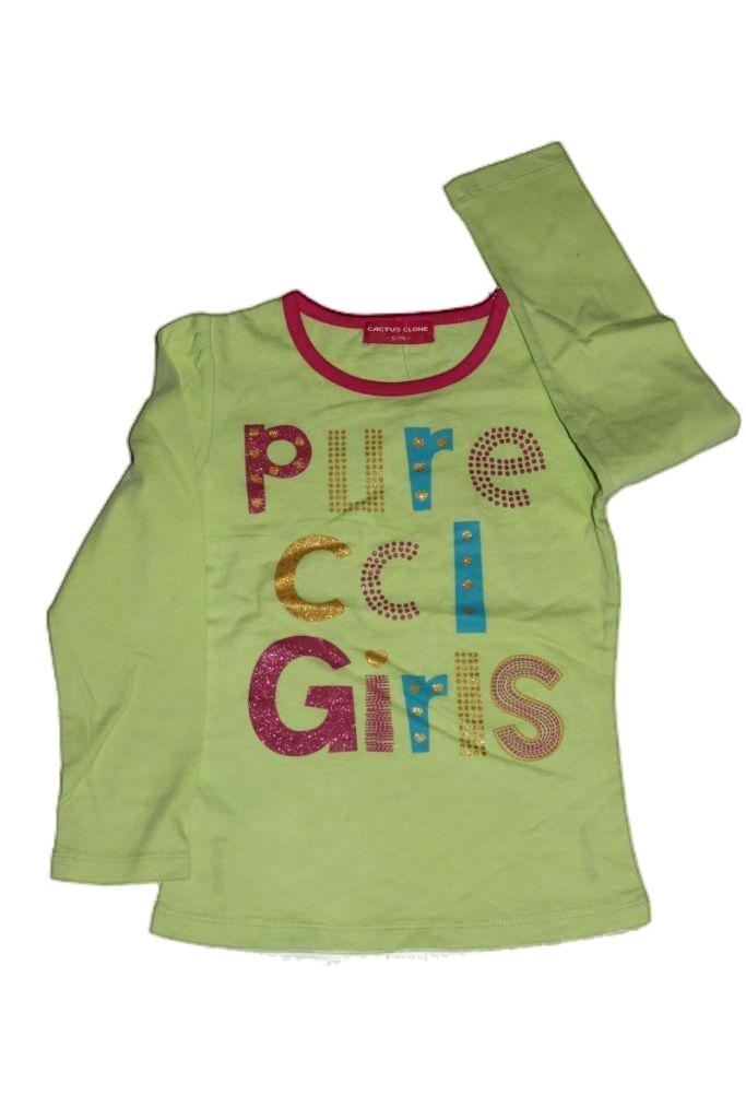 Szívecske mintás lány hosszú ujjú póló - lány felső, póló