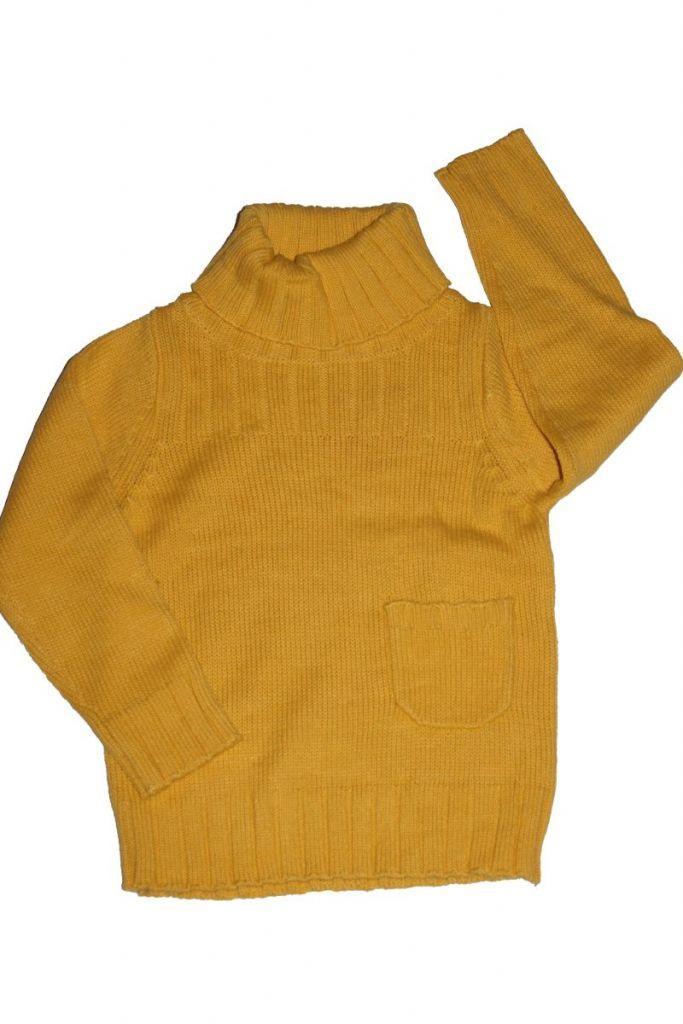 Garbós nyakú kötött pulóver - lány pulóver, mellény