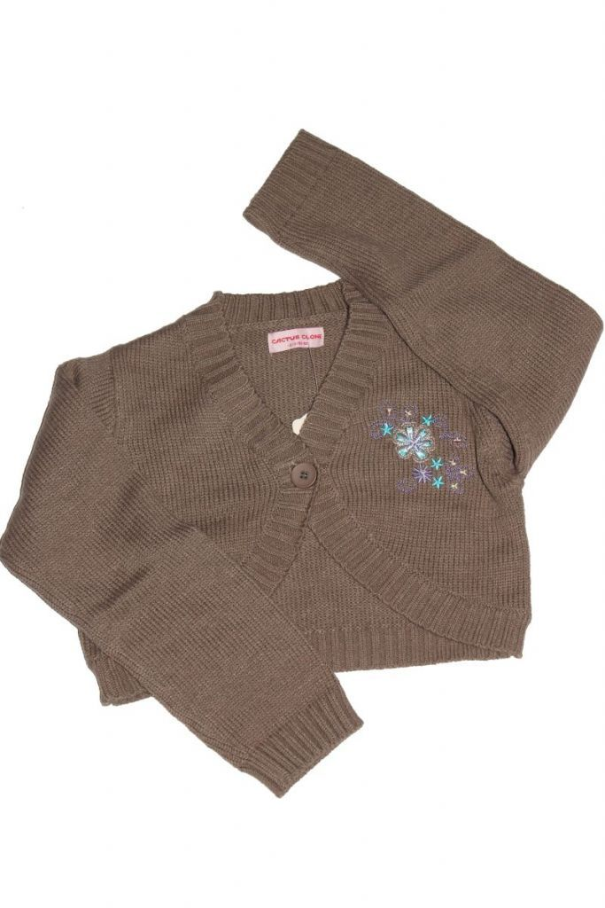 Virág mintás lány boleró - lány pulóver, mellény