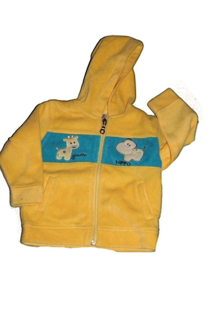 Víziló mintás baba polár pulóver  - baba pulóver, mellény