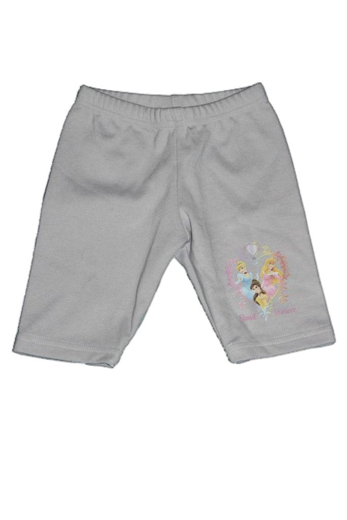 Hercegnő mintás lány térd leggings - lány rövidnadrág