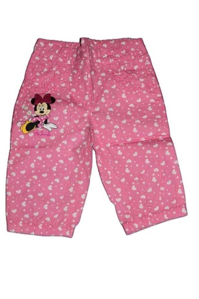 Minnie egér mintás lány térdnadrág - lány rövidnadrág