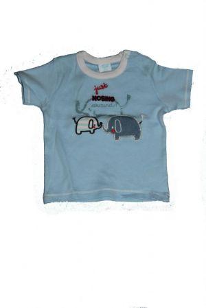 Elefánt mintás baba póló - baba felső, póló