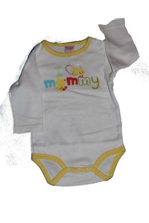 Csirke mintás baba hosszú ujjú bady - baba felső, póló