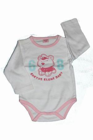 Medve mintás baba hosszú ujjú bady - baba felső, póló