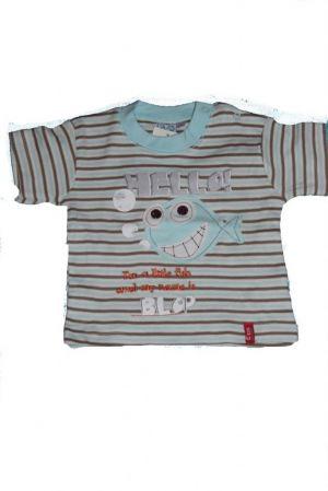 Halacska mintás baba póló - baba felső, póló