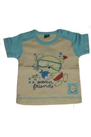Medve mintás baba rövid ujjú póló - baba felső, póló