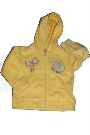 Pillangó mintás baba polár pulóver - baba pulóver, mellény