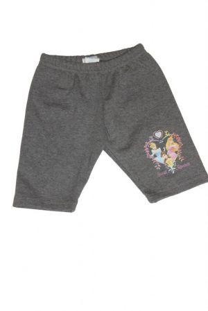 Hercegnő mintás lány rövid leggings - lány rövidnadrág