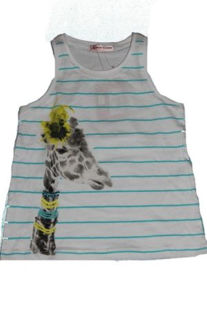 Zsiráf mintás lány trikó - lány felső, póló